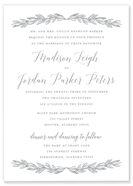 Madison Leigh Garland Invitation