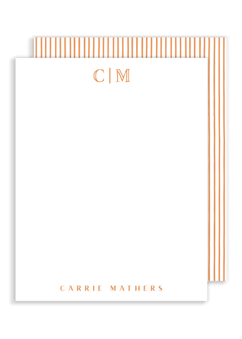 Mathers Monogram Flat Notes