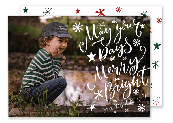 May Your Days Be Stars Christmas Card
