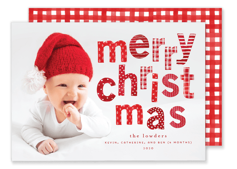 Merry Christmas Letters Christmas Card
