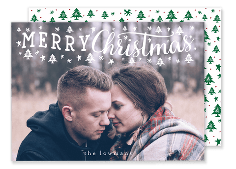 Two Font Merry Christmas Card