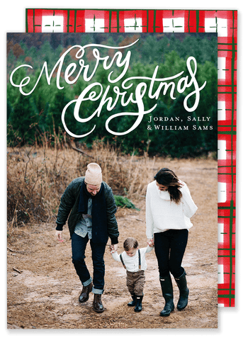 Merry Christmas Plaid Card