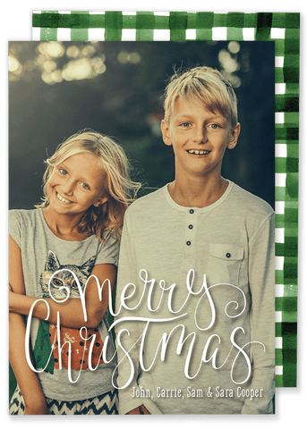 Merry Christmas Script Christmas Card