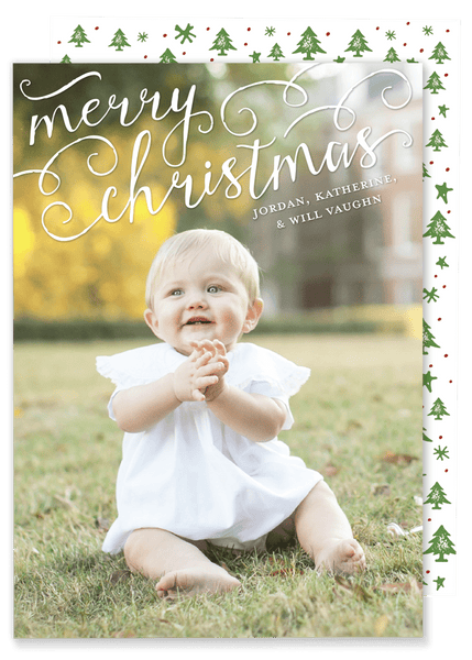 Merry Christmas Scroll Card