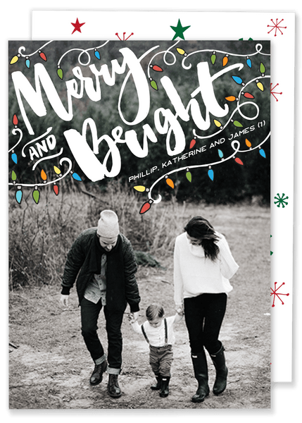 Merry and Bright Lights Christmas Card