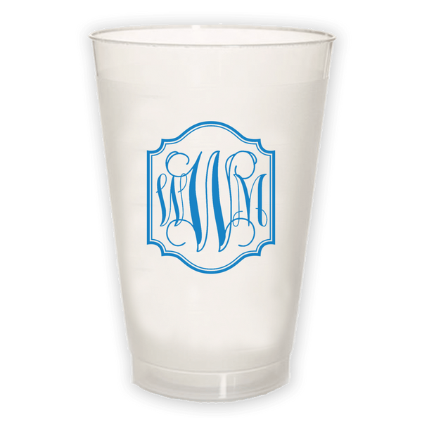Monogram Border Frosted Cup