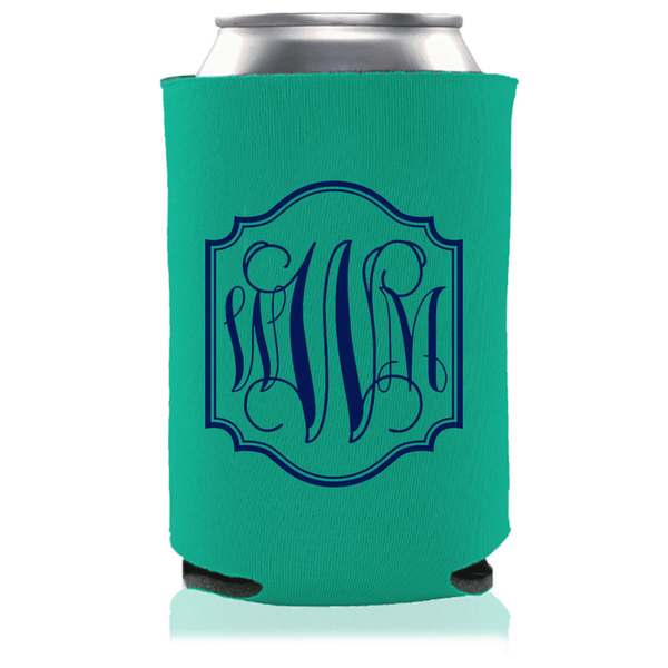 Monogram Border Can Coolers