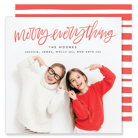 Moore Merry Everything Square Christmas Card