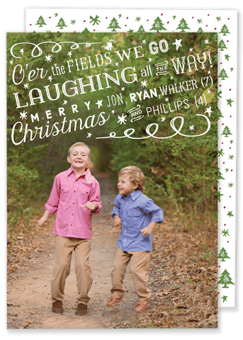 O'er the Fields Christmas Card