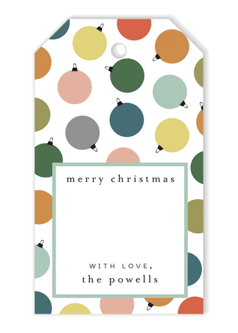 Christmas Ornament Crest Gift Tags