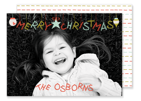 Osborn Ornament Christmas Card