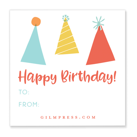 Party Hat Gift Tag
