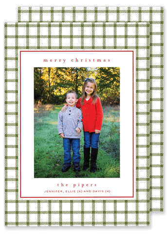 Piper Plaid Christmas Card