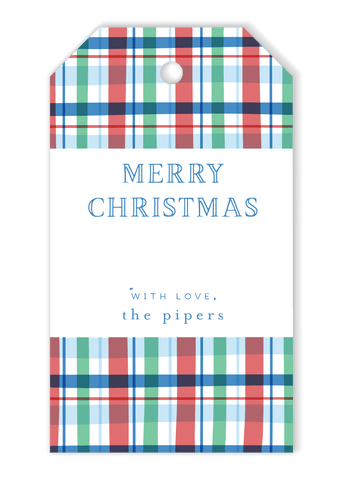 Piper Plaid Gift Tags