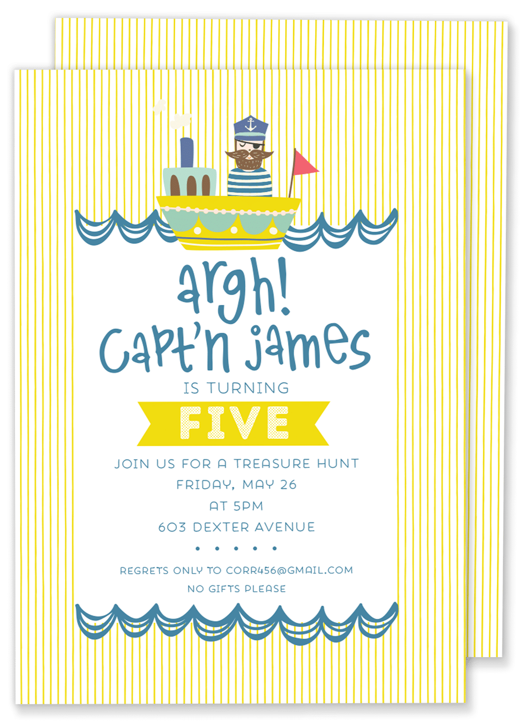 Pirate Birthday Party Invitation – Gilm Press