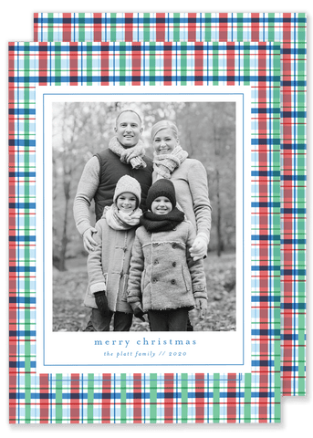 Platt Plaid Christmas Card
