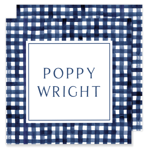 Poppy Plaid Calling Card