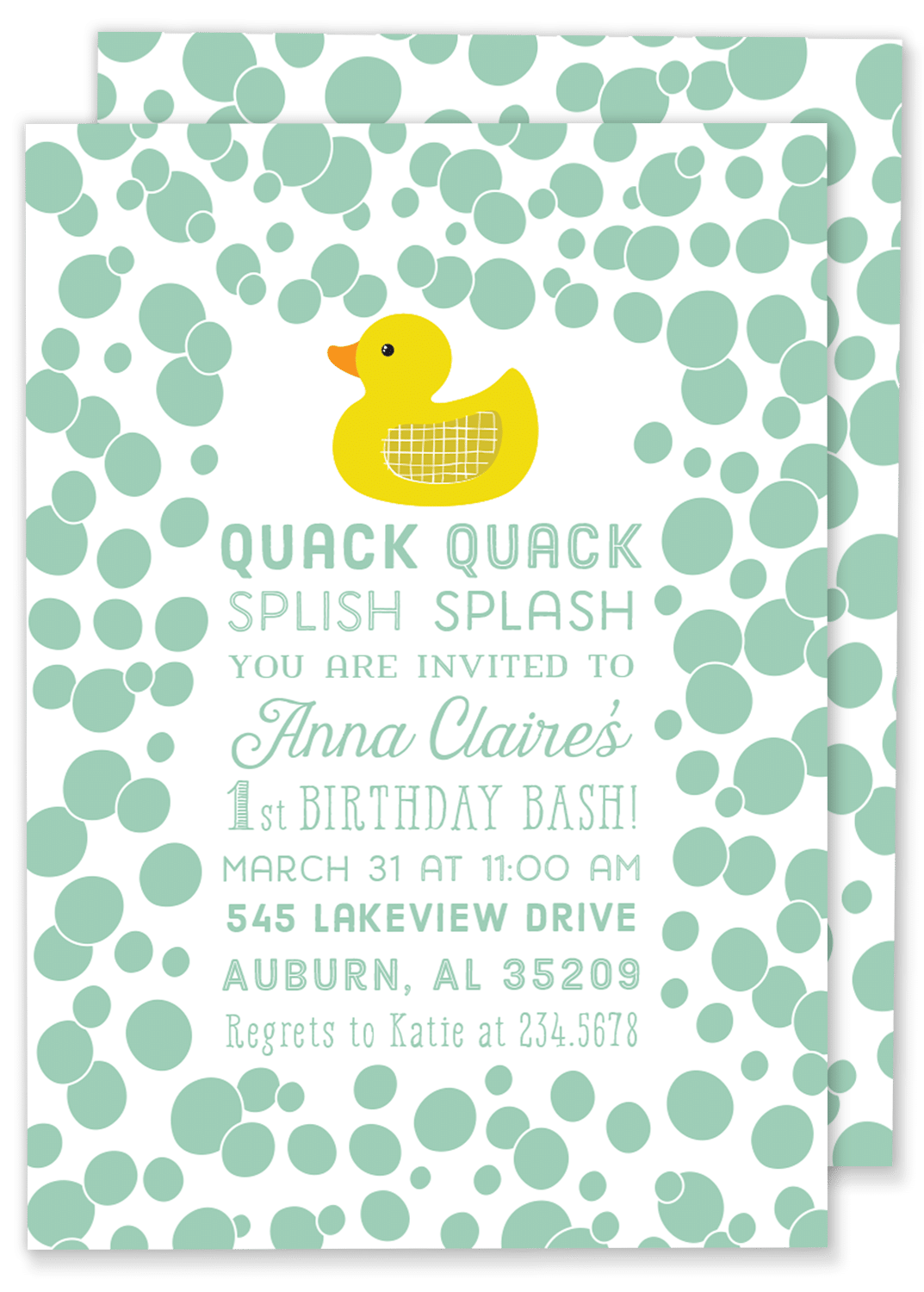 Quack Quack Rubber Duck Invitation – Gilm Press