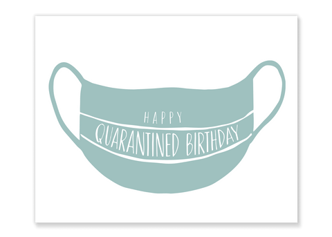 Quarantine Mask Birthday Card // Free Download