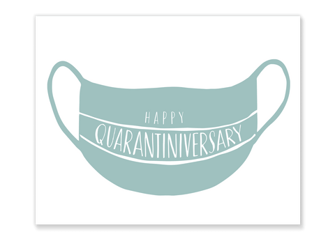 Quarantiniversary Mask Card // Free Download