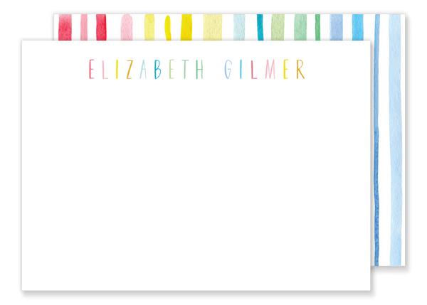 Rainbow Stripe Calling Card
