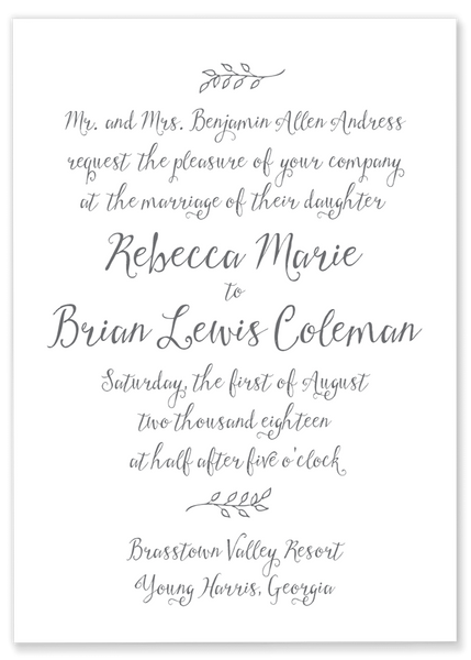Rebecca Marie Wedding Invitation
