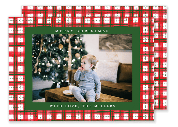 Red and Green Plaid Christmas Card