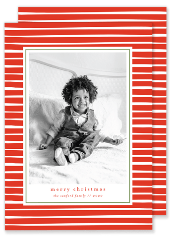Sanford Stripe Christmas Card