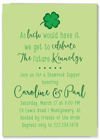 Shamrock Supper Invitation