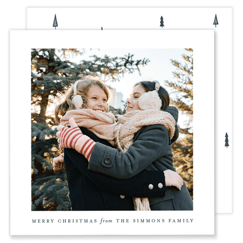Simmons Simple Square Christmas Card