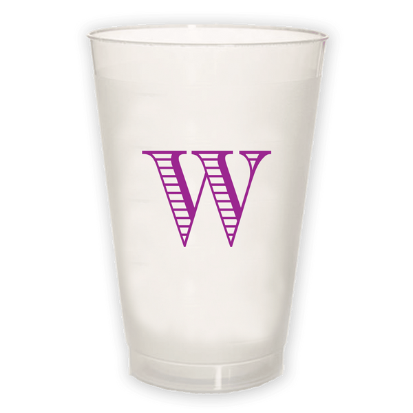 Single Letter Frosted Cup