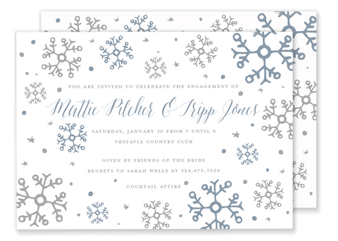 Snow Showers invitation