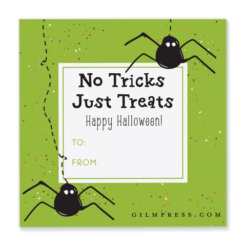 Spider Halloween Gift Tag