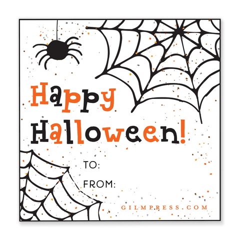 Spider Web Halloween Gift Tag