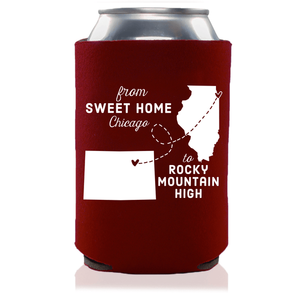 Custom State Can Coolers