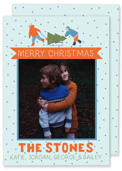 Stone Sled Christmas Card