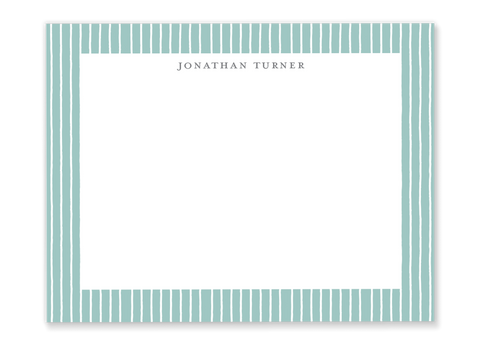 Stripe Name Flat Notes