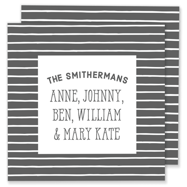 Striped Family Calling Card