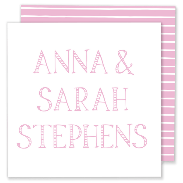 Striped Letters Calling Card