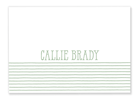 Striped Name Folded Notes