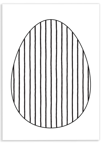 Stripe Egg Coloring Sheet