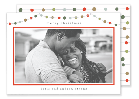 Strong String Lights Christmas Card