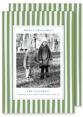 Strother Stripe Christmas Card