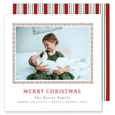 Sutter Stripe Christmas Card