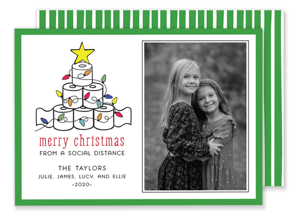 Taylor Toilet Paper Tree Christmas Card
