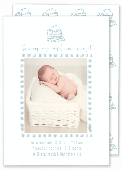 Thomas Train Birth Announcement