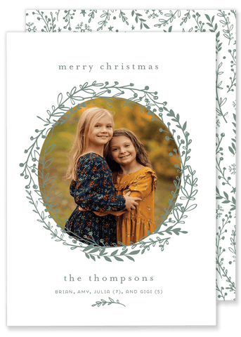 Thompson Twig Wreath Christmas Card