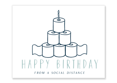 Toilet Paper Tower Birthday Card // Free Download