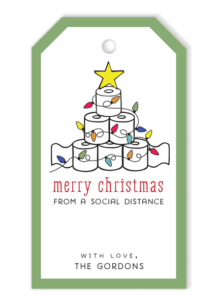 Toilet Paper Tree Gift Tags