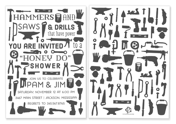 Tool Shower Invitation
